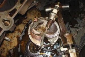 Гидроудар - разрушения в цилиндре